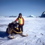 Paul Ramsden with snowmobile. James Bond 007, Die Another Day.