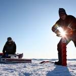 Taking ice core samples. Catlin Arctic Survey.
